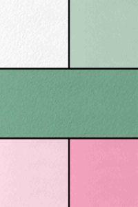 Meine Businessfarben 2020. Rosa, grün und weiß im Rauhfasertapenen-Look