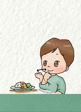 Mein Kind isst nicht Gebärde für Essen